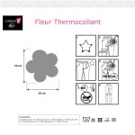 Fleur thermocollante-Notices