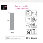 Ourlet thermocollant tissu simple 20-Notice